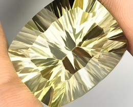 27.89ct Terrific Concave Cut Lemon Quartz VVS Jewellery grade gem