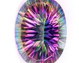 21.74ct Large Rainbow Mystic Quartz gem VVS