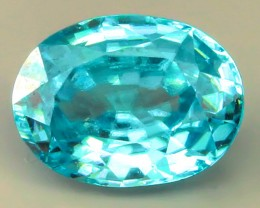 1.67ct Marvellous Caribbean Blue Natural Cambodian Zircon