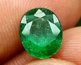 100%  NATURAL 2.35 Crt Emerald Oval cut Nice Quality Gems jle01