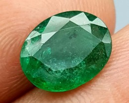 100% Natural Zambian Emerald 1.85Crt  jle04