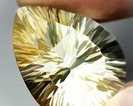 14.59ct Concave Cut Lemon Quartz Jewellery grade gem VVS