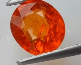 3.20 CTS.LOVELY! SUPER FANTA ORANGE NATURAL SPESSARTITE GARNET $366.00