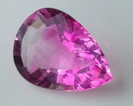 7.40 CTS BRILLIANT PEAR FIRE MUSUEM RAREST NATURAL PINK  FLOURITE