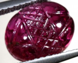 3.5CTS PINK TOURMALINE CARVING PG-2351