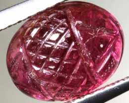 3.5CTS  PINK TOURMALINE CARVING PG-2353