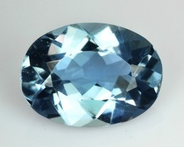 2.20 Cts Natural Blue Beryl (Aquamarine) Oval Cut Brazil Gem