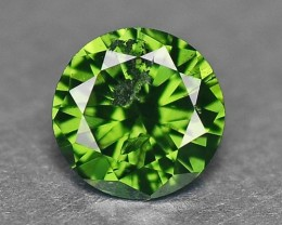 0.15 Cts Natural Fancy Green Diamond Round Africa