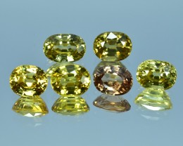 13.86 Cts Attractive Natural Cambodian Fancy Yellow Zircon