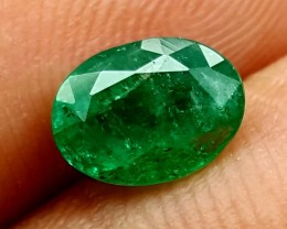 100% Natural Zambian Emerald 1.25 Crt  jle12