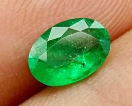 100% Natural Zambian Emerald 0.80 Crt  jle13