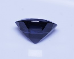 Cobalt certified Sri Lankan spinel.  Color switches from royal blue inside to blue green in natural sunlight.
