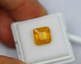 7.53Ct Natural Yellow Sapphire Emerald Cut Lot V118