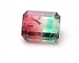 4.65 cts BLUE & RED TOURMALINE - OUTSTANDING BICOLOR GEMSTONE!!
