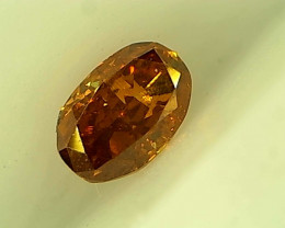 0.19ct Fancy Deep yellowish Orange  , 100% Natural Untreated