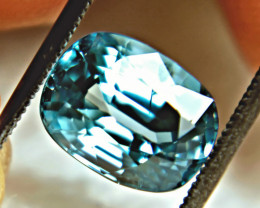 CERTIFIED - 6.20 Carat Blue VVS1 Southeast Asian Zircon