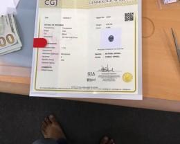 Certified violet cobalt spinel.
