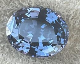 4.09 cts violet cobalt certified Sri Lankan spinel.