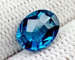 1.90CT SWISS BLUE TOPAZ  GEMSTONE IGC78