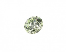 Natural Fancy Light Yellow-Green 0.71 ct. si2 Round Brilliant shape Diamond