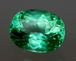 5.90 Cts GREEN SPODUMENE with great LUSTER Gemstone   Jl151