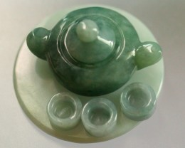 343.0Ct Natural Grade A CERTIFIED Jadeite Jade Teapot (No Treatment)
