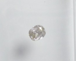 Natural White diamond - 0,11 ct