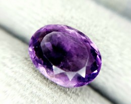 3.10 Crt Natural Purple Amethyst Faceted Gemstone (R 103)