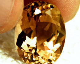 19.33 Carat Flashy Brazil VVS Golden Topaz