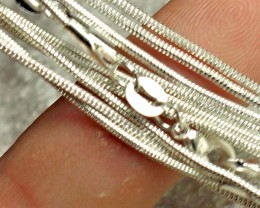 Five Sterling Silver Chains - 18 inches - 5 Pieces