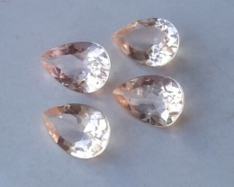 2.450 Cts Exclusive Lustrous 7X5 mm peach Morganite beauiful color Brazil
