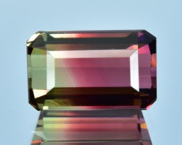 5.99 Cts Attractive Beautiful Natural Bi Color Tourmaline
