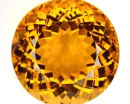 Nice Round 19.16 Cts Natural Golden Orange Citrine Brazil Gem