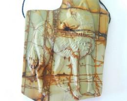 New Design For Jewelry Making, Spirital Wolf Animal Pendant, 240.5CT Natura