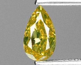 0.75 Cts Untreated Natural Yellow Diamond