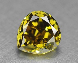 0.43 Cts Untreated Natural Olive Green Diamond