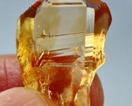 26 ct Top Quality & Superb Orange Brown Color Topaz Crystal