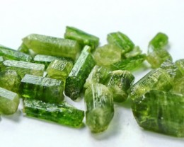104 CT Natural - Unheated Green Diopside Crystal Lot