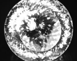 ~BIG~ 137.91 Cts Natural Quartz Sparkling White Round Brazil ~COLLECTIBLE~