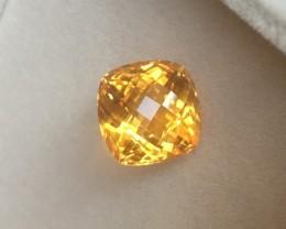 IGI Certified Gemstone 8.98 ct Vivid Orangy Yellow Citrine