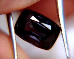 CERTIFIED DEEP DARK PURPLE SPINEL ~ VVS ~ 3.72cts