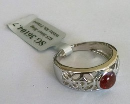 Garnet filigree 925 Sterling silver ring