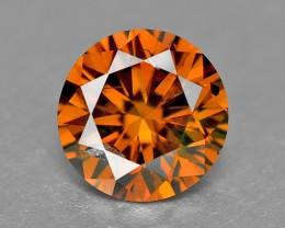 0.24 Cts Natural Cognac Diamond Round