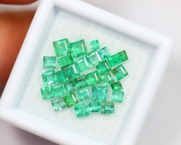 Lot 12 ~ 3.46Ct Natural Vivid Green Color Zambian Emerald