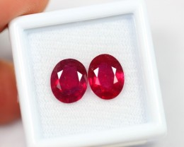 Lot 14 ~ 5.93Ct Natural VS Clarity Vivid Blood Red Color Ruby