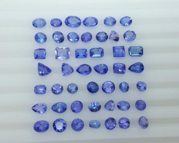 30.70 Crt Natural Tanzanite Parcels Good Quality Faceted Gemstone