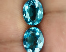 2.70ct Fabulous Swiss Blue Topaz Pair Jewellery grade VVS