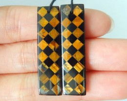 HOLIDAY SALES BEAUTIFUL GIFT FOR GIRL FRIEND,36X10X4MM Natural Golden Tiger