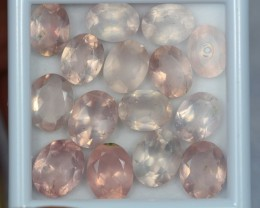 28.60ct Natural Pink Quartz Oval Cut Lot GW130