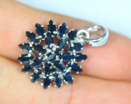 17.49ct Sterling Silver 925 Natural Sapphire Pendant GW132